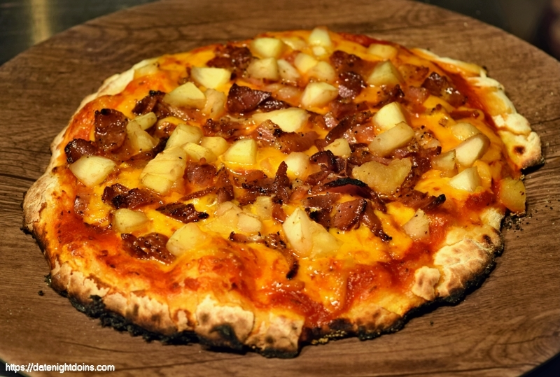 Apple Bacon Smoked Cheddar Pizza